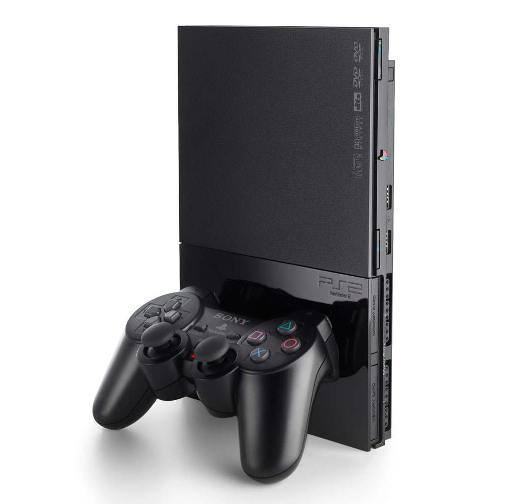 Consola Playstation 2 Slim 75004 Black Inclui Boot Dvd Usada